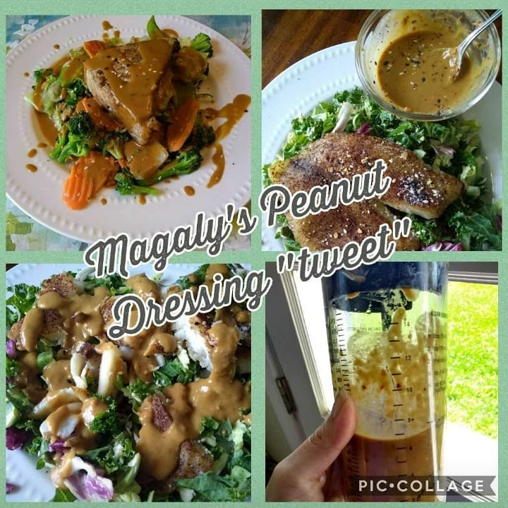 Magaly's peanut dressing tweet